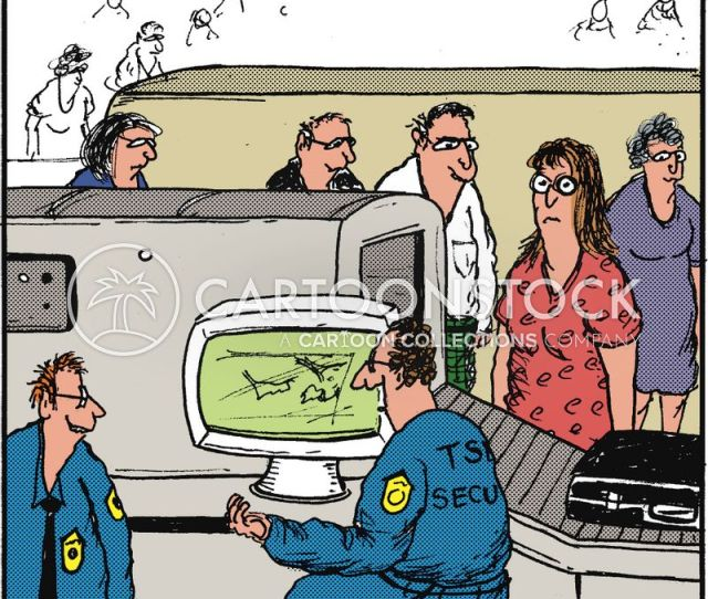 Airport Customs Cartoon