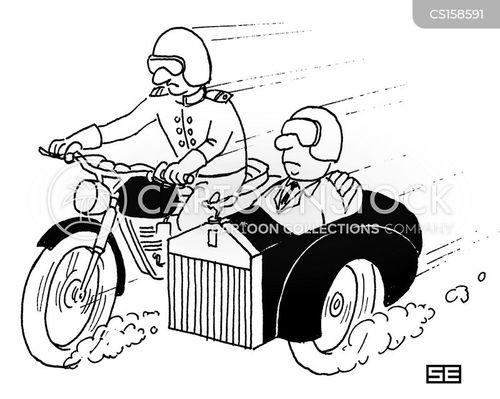 Cartoons Und Karikaturen Mit Fahrer