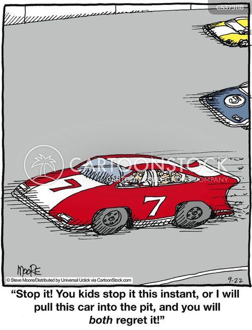 Racing Car Cartoons and Comics - funny pictures from CartoonStock