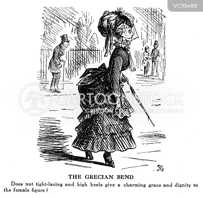 Women's Clothing Vintage and Historic Cartoons