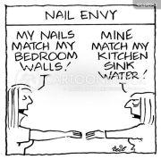 finger-nails cartoons and comics