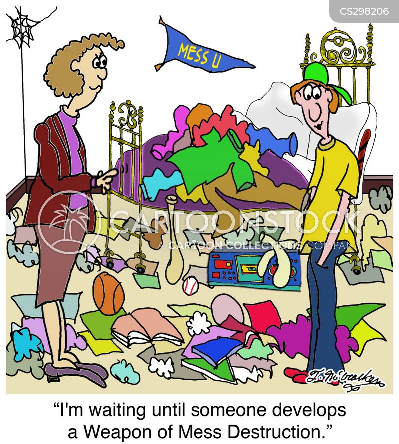 Messy Room Cartoons and Comics  funny pictures from
