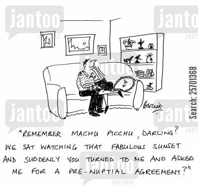 Prenuptial Cartoons Humor From Jantoo Cartoons