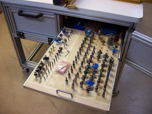 The Basement 11 Incra Router Table  Bit Storage  by