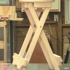 Collapsible Kitchen Table Lighting For Island How To Build A Folding Stool - By Woodjedintraining ...