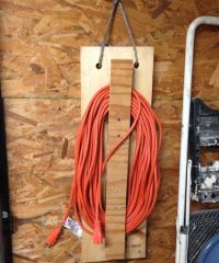Redneck extension cord holder/carrier. - by AngieO ...