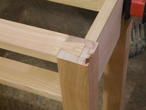mission sofa table designer corner beds cherry refreshment #1: breadboard ends and tusk ...
