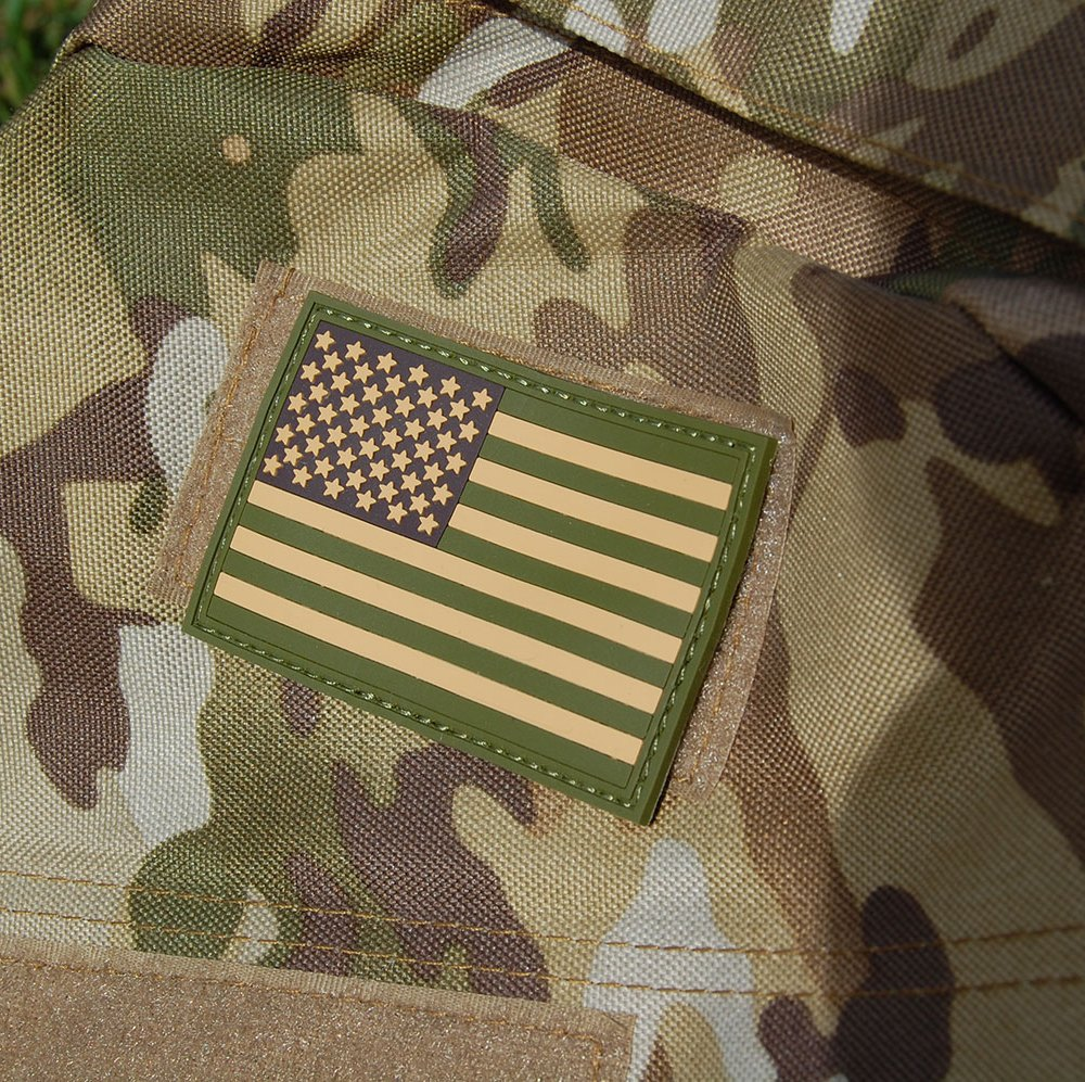 American Flag PVC Patch on Bag