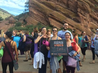Yoga on the rocks in Colorado