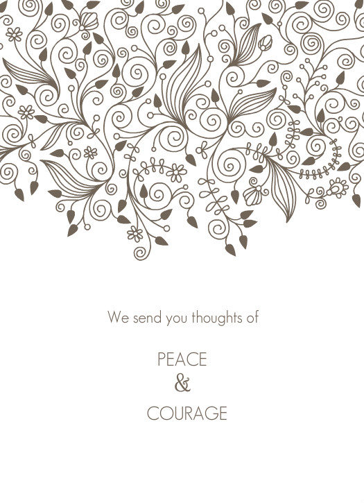 Floral Modern Sympathy Card Template