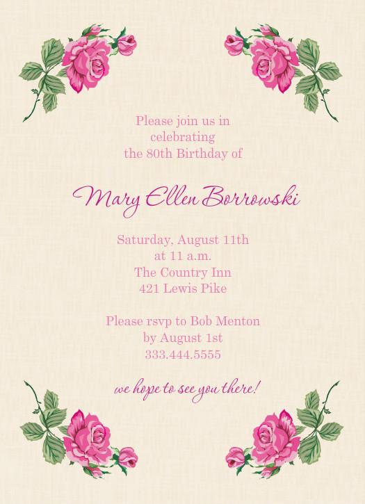 80th birthday invitation sayings