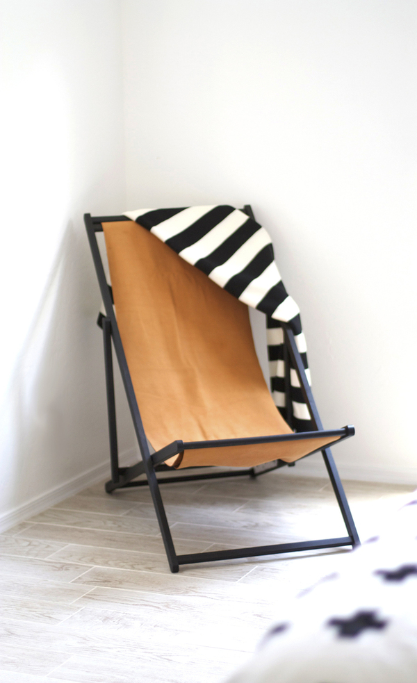 How to Turn an IKEA Beach Chair into a Modern Leather