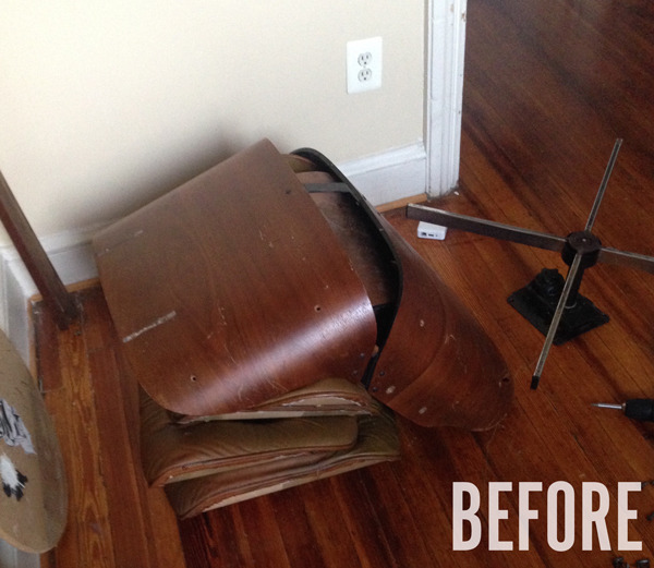 Restoring a Vintage Eames Lounge Chair and Ottoman  Man