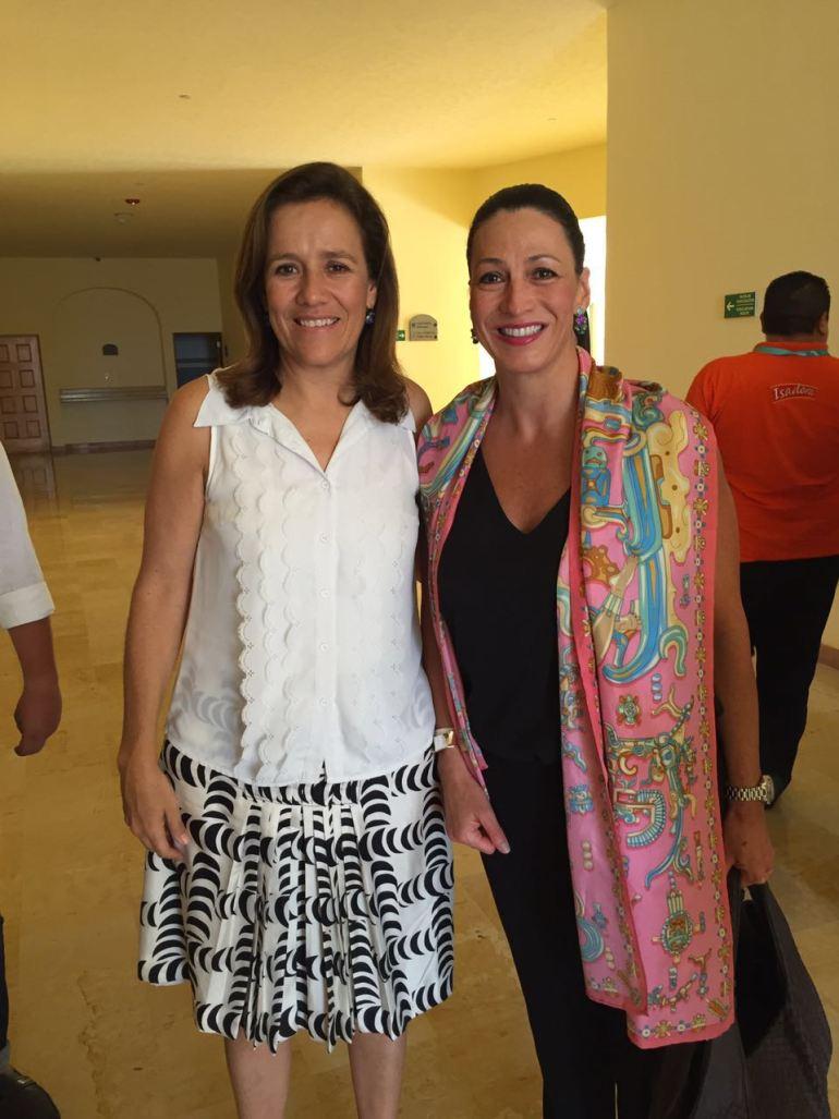 Con Margarita Zavala