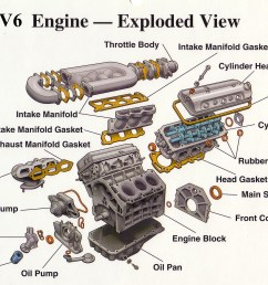 v6 engine exploded view members gallery mechanical 1993 toyota 3 0 v6 engine diagram coolant temp sensor [ 1497 x 1144 Pixel ]