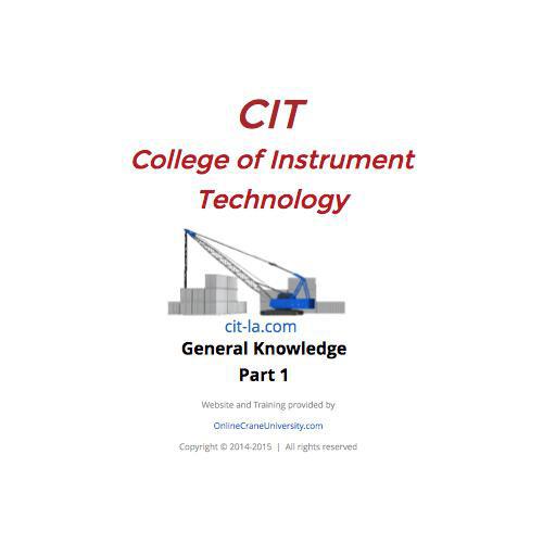 CIT General Knowledge part 1