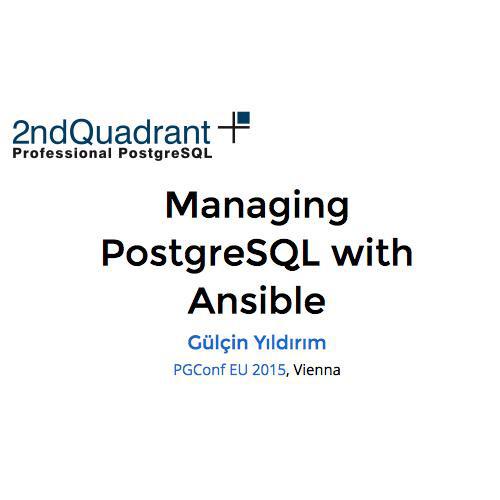 Managing PostgreSQL with Ansible