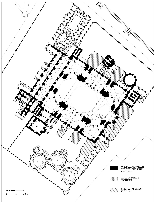 hight resolution of basilica plan diagram