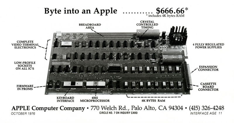 apple I advertisement 1976