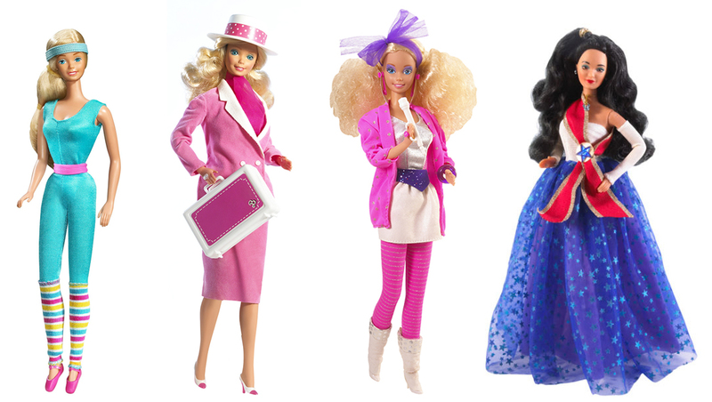 the many transformations and history of barbie completeset