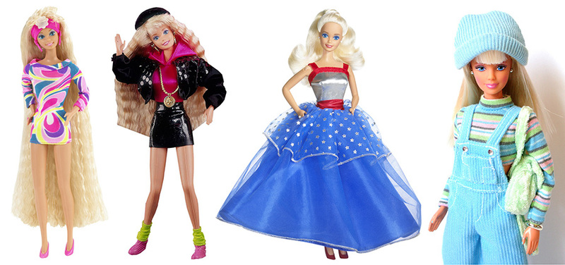 barbie 1990s presidential cool blue rappin rockin totally hair