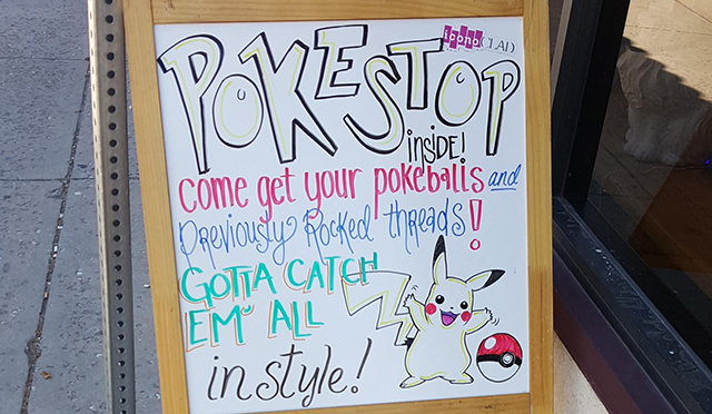 Pokemon GO business sign