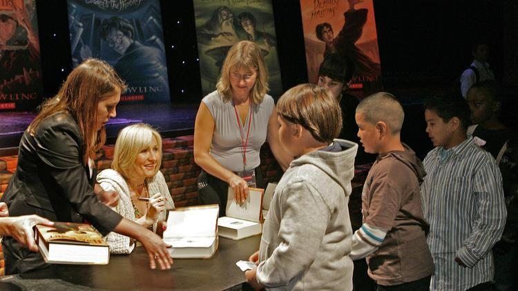 J.K. Rowling book signing