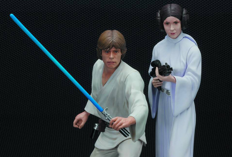 Luke Skywalker and Princess Leia ARTFX+ Statue