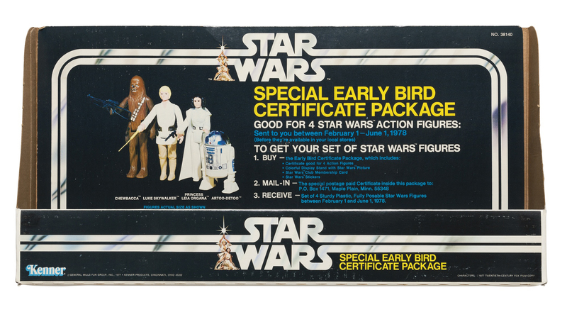 Star Wars Special Early Bird Certificate Package Store Display