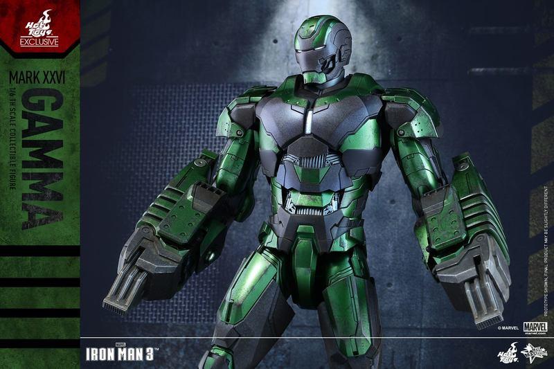 Hot Toys Iron Man 3 Gamma Armor Figure CompleteSet