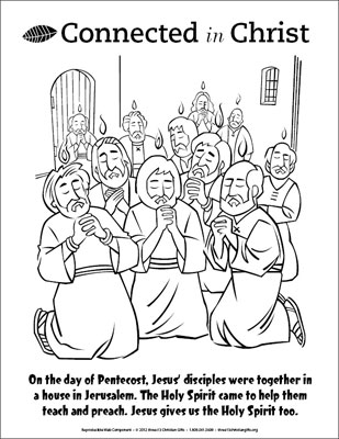 Pentecost Pages Coloring Pages