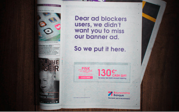 Ad Blocking Comes Full Circle Online Bank Uses Newspaper Ads To Reach Blockers 11 27 2017