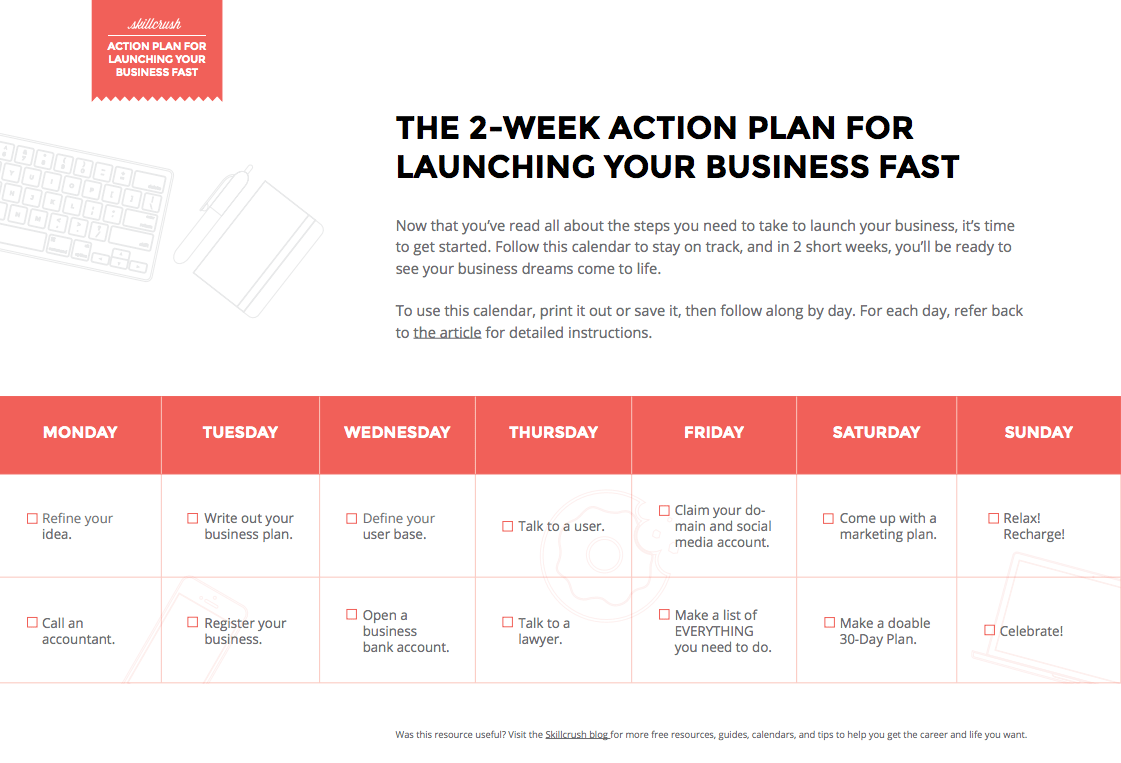 The 2-Week Plan To Launching Your Business