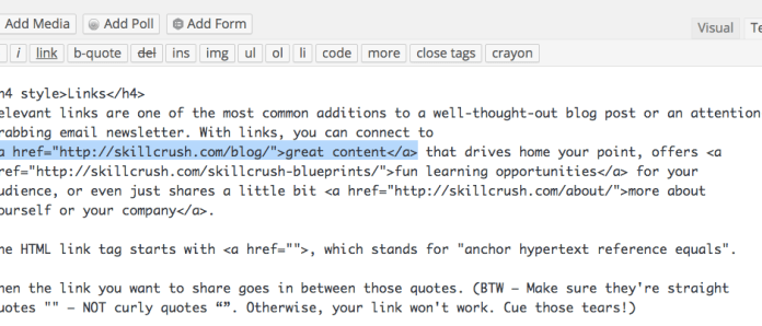 HTML Link Tag