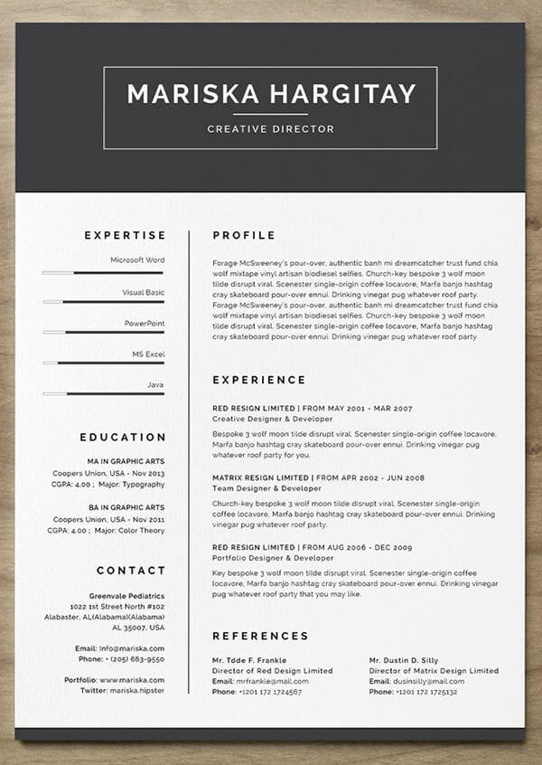 Resume Templates Free Design