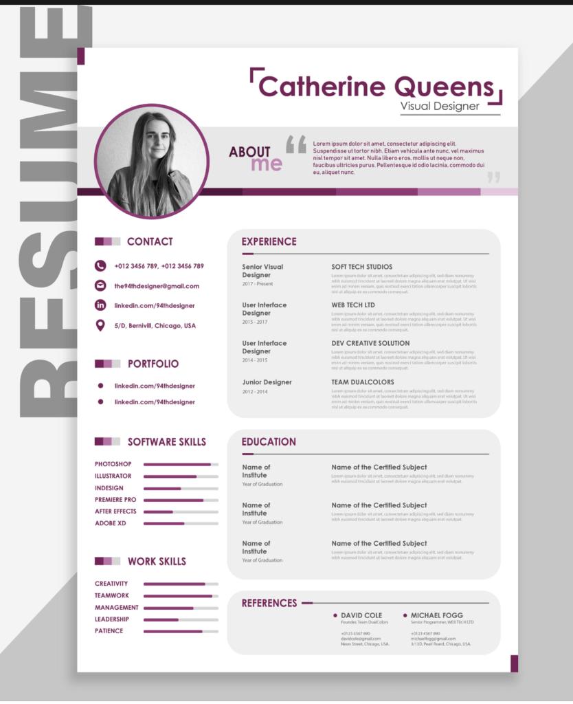 free funandcreative resume templates
