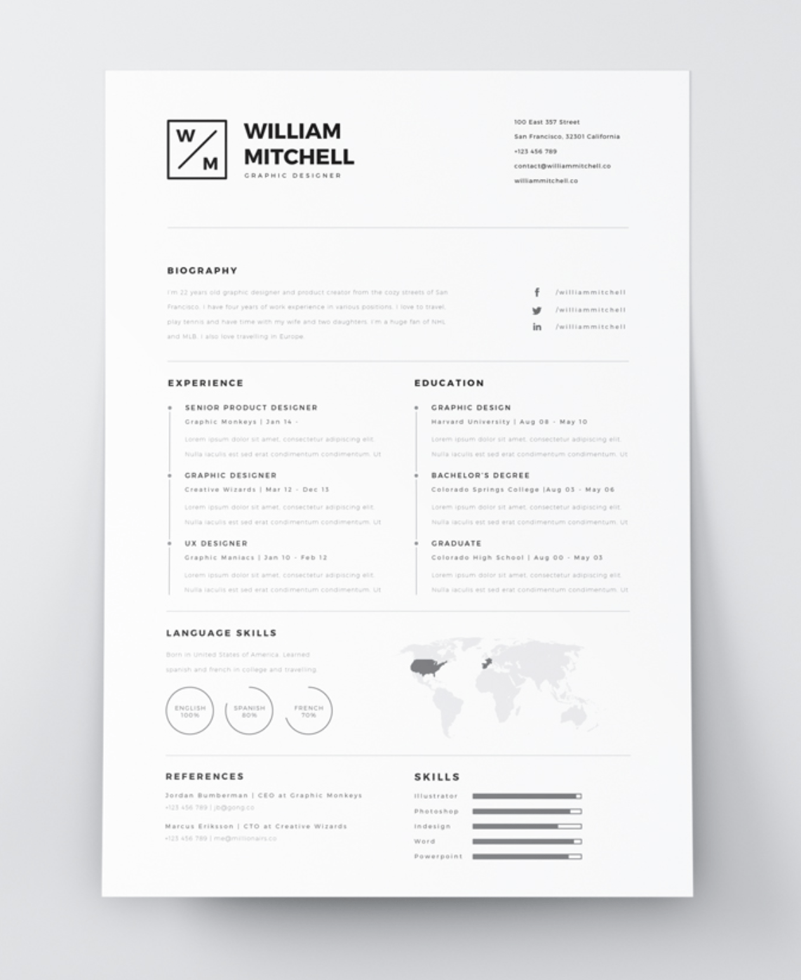 Free Resume Download Template Free Creative Resume Template Downloads For 2019