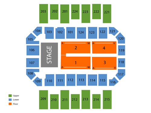 James Brown Arena Seating Chart & Events in Augusta, GA