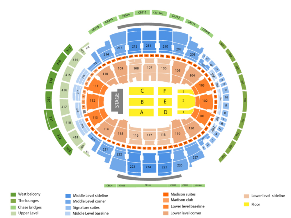 Madison square garden seating chart also elton john at new york ny october rh teamonetickets