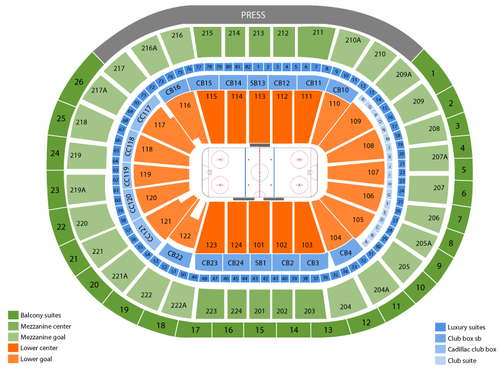 Philadelphia flyers also wells fargo center seating chart  events in pa rh goldcoasttickets