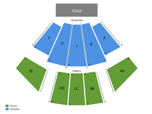Wamu theater seating chart also  events in seattle wa rh goldcoasttickets