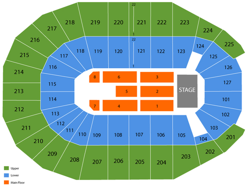 Verizon arena seating chart also  events in north little rock ar rh goldcoasttickets