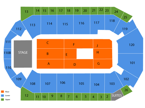 stbank center seating chart also  events in broomfield co rh goldcoasttickets