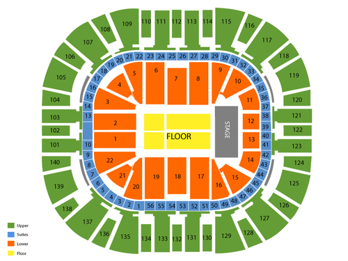 Andrea bocelli also vivint smart home arena seating chart  events in salt lake city ut rh goldcoasttickets