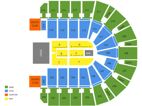 Taxslayer center seating chart also  events in moline il rh goldcoasttickets