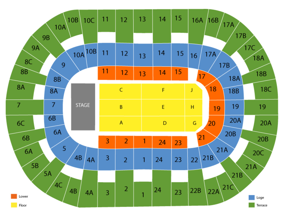Valley view casino center seating chart also chayanne at san diego ca september rh teamonetickets