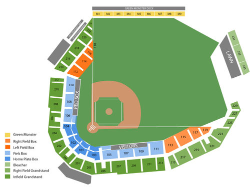 Jetblue park seating chart also  events in fort myers fl rh goldcoasttickets