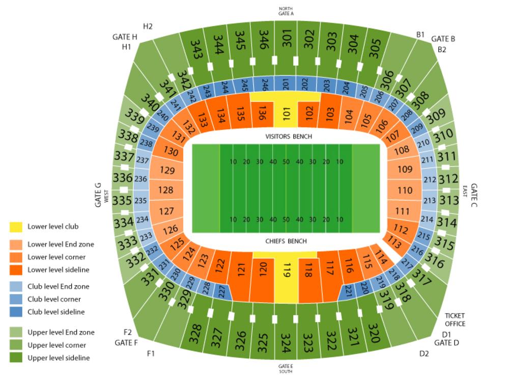 Arrowhead stadium seating chart also ed sheeran at kansas city mo october rh teamonetickets