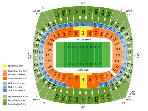 Arrowhead stadium seating chart also  events in kansas city mo rh goldcoasttickets