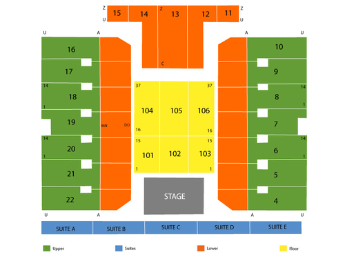 Erie insurance arena seating chart also  events in pa rh goldcoasttickets